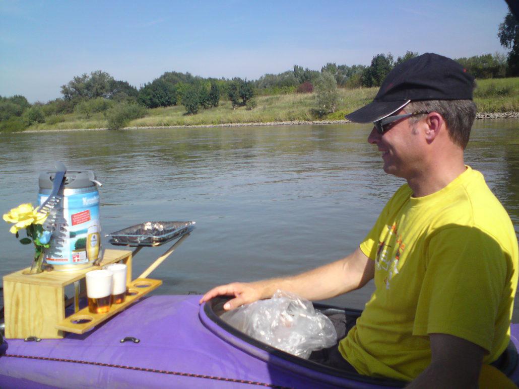 Beschauliches Paddeln auf der Weser
